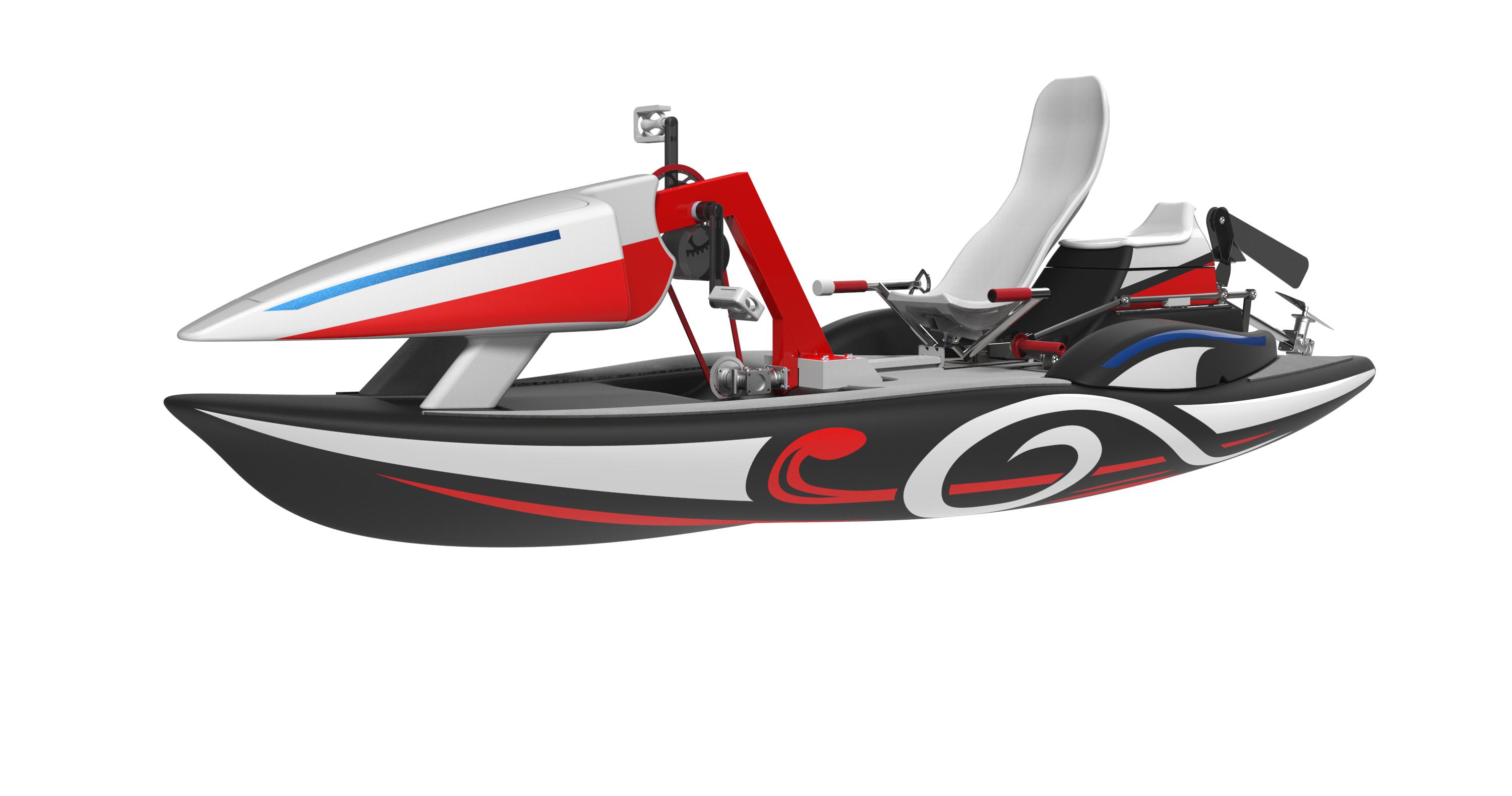 Mushyca-2019-front-water-bike-waterbikeitaly-waterbike-creativ-ita-ultimate-hand-leg-04